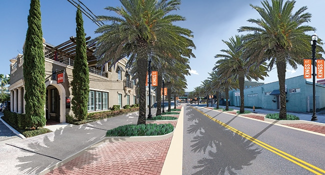 Kings Avenue makeover - rendering - Jacksonville FL